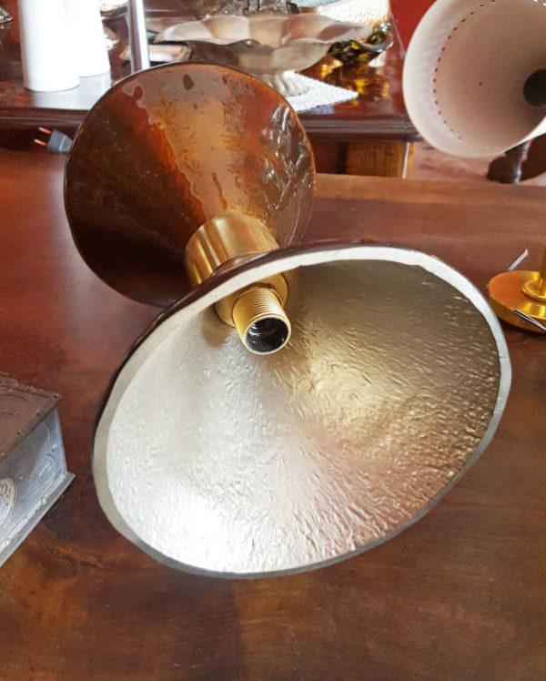 1 Applique doppio cono in vetro di Murano vetri soffiati lampada