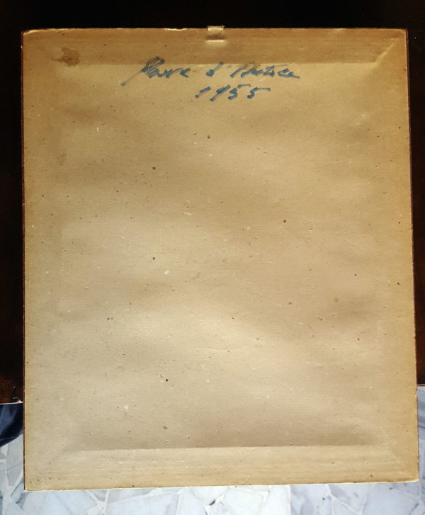 Quadro astratto prova d'autore 1955