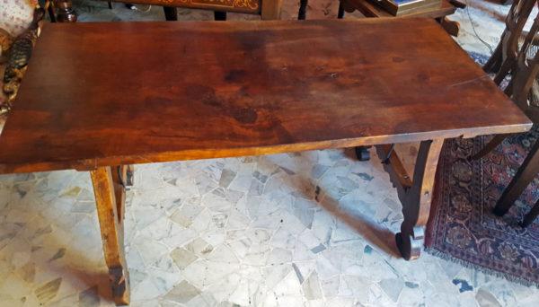 Mobile Tavolo Fratina in noce massello originale d'epoca 1Solo.com antiquariato pezzi unici