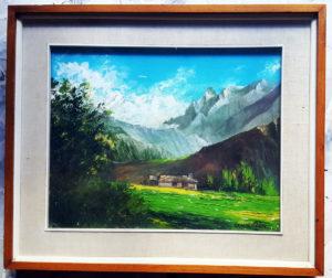 Quadro raffigurante una baita in montagna
