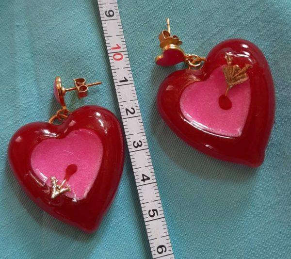 orecchini cupido handmade resina