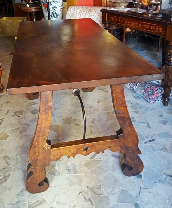 Mobile Tavolo Fratina in noce massello originale d'epoca 1Solo.com