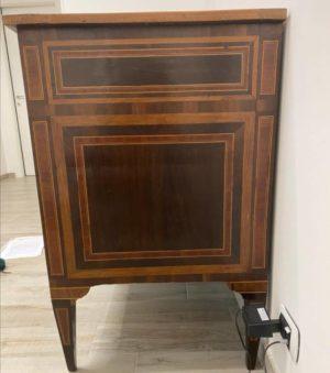 Cassettone neoclassico epoca 700 autentico laterale