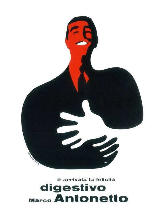 Digestivo-Antonetto grafica pubblciitaria manifesti pubblicitari Armando Testa illustratore Torino su 1Solo.com antiquariato vintage modernariato