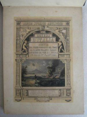 CARLO BOSSOLI - ALBUM STORICO ARTISTICO 1859 GUERRA D'ITALIA - 1°ed.1860 - TUTTE LE LITOGRAFIE COMPLETE vintage