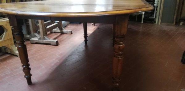 tavolo allungabile legno massello noce antiquariato torino 1 Solo.com