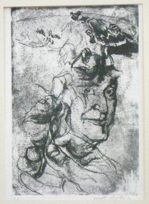 PERIPLO NEL NOVECENTO - 4 LITOGRAFIE FIRMATE - PIACESI, PORZANO, BORGHI, COMENCINI - UMBERTO SABA, ALERAMO, BRANCATI interno libro artistico litografia