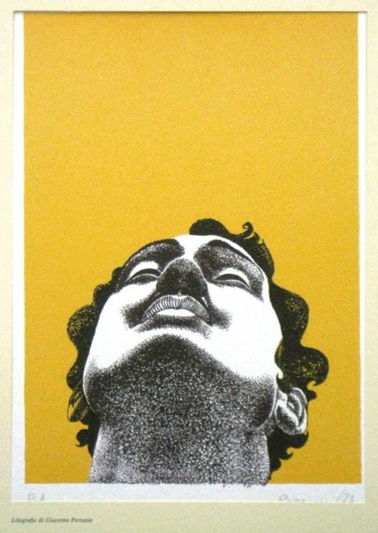 PERIPLO NEL NOVECENTO - 4 LITOGRAFIE FIRMATE - PIACESI, PORZANO, BORGHI, COMENCINI - UMBERTO SABA, ALERAMO, BRANCATI interno libro artistico litografia 4