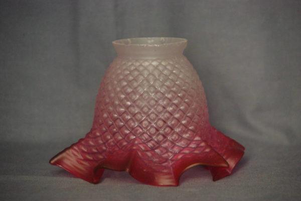 Tulip, ricambio per lampade e lampadari, bordo rosso ricambi vintage