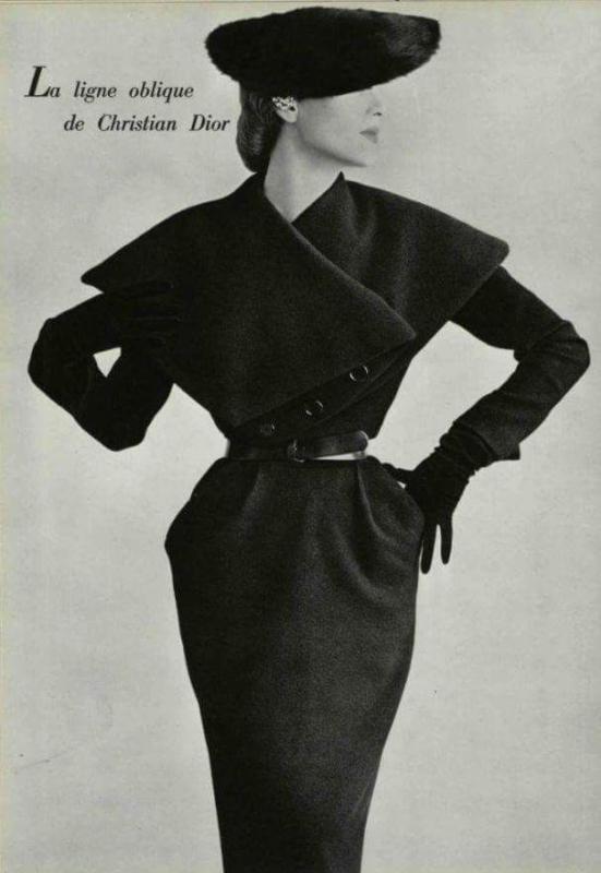 La Linea obliqua di Cristian Dior anni '50