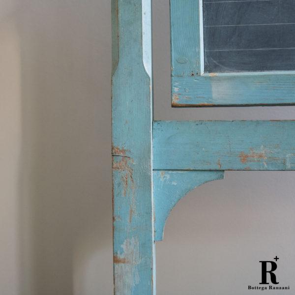 Lavagna vintage in ardesia, anni '50 epoca dettaglio legno