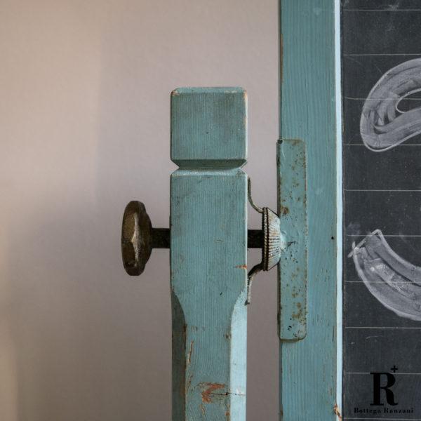 Lavagna vintage in ardesia, anni '50 epoca dettaglio