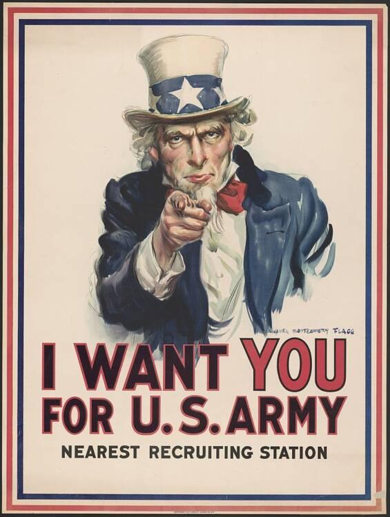 Manifesti Epoca Pubblicitari originali su 1Solo.com Antiquariato Stampe - Zio Sam Unclesamwantyou